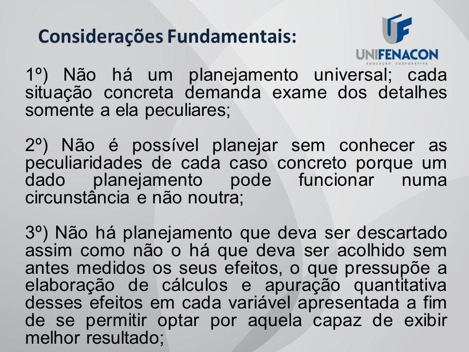 Considerações Fundamentais: