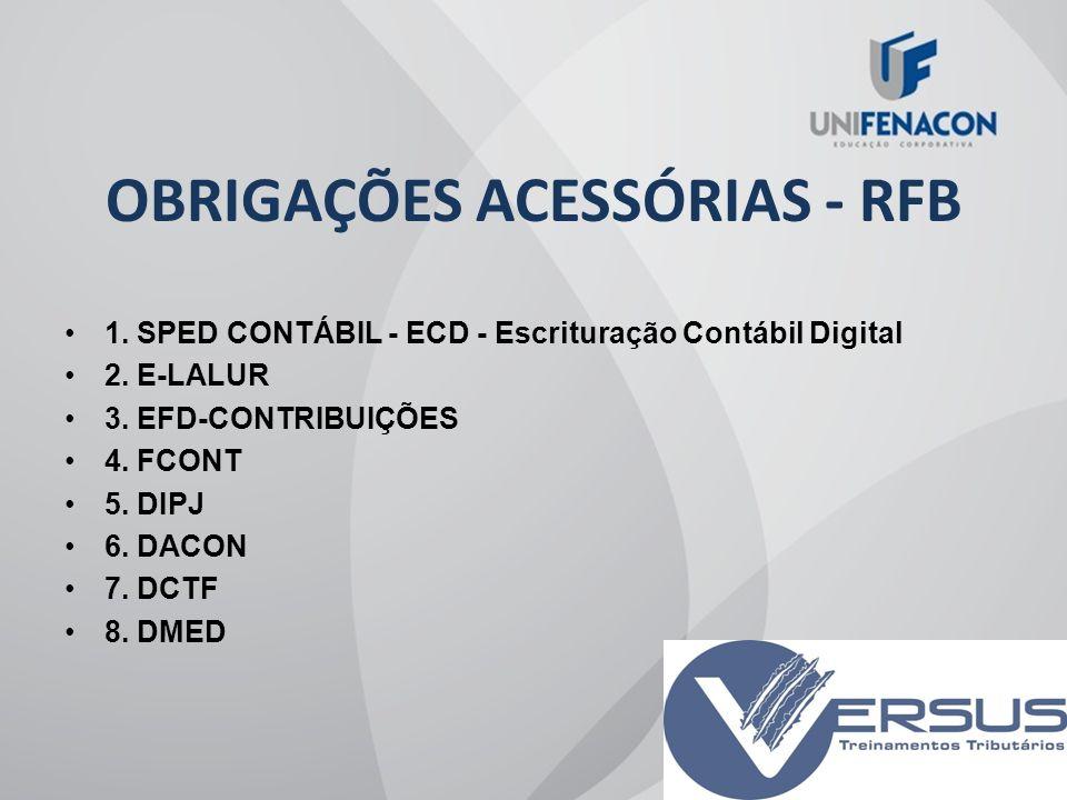 OBRIGAÇÕES ACESSÓRIAS - RFB