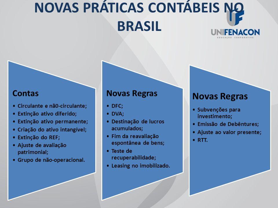 NOVAS PRÁTICAS CONTÁBEIS NO BRASIL
