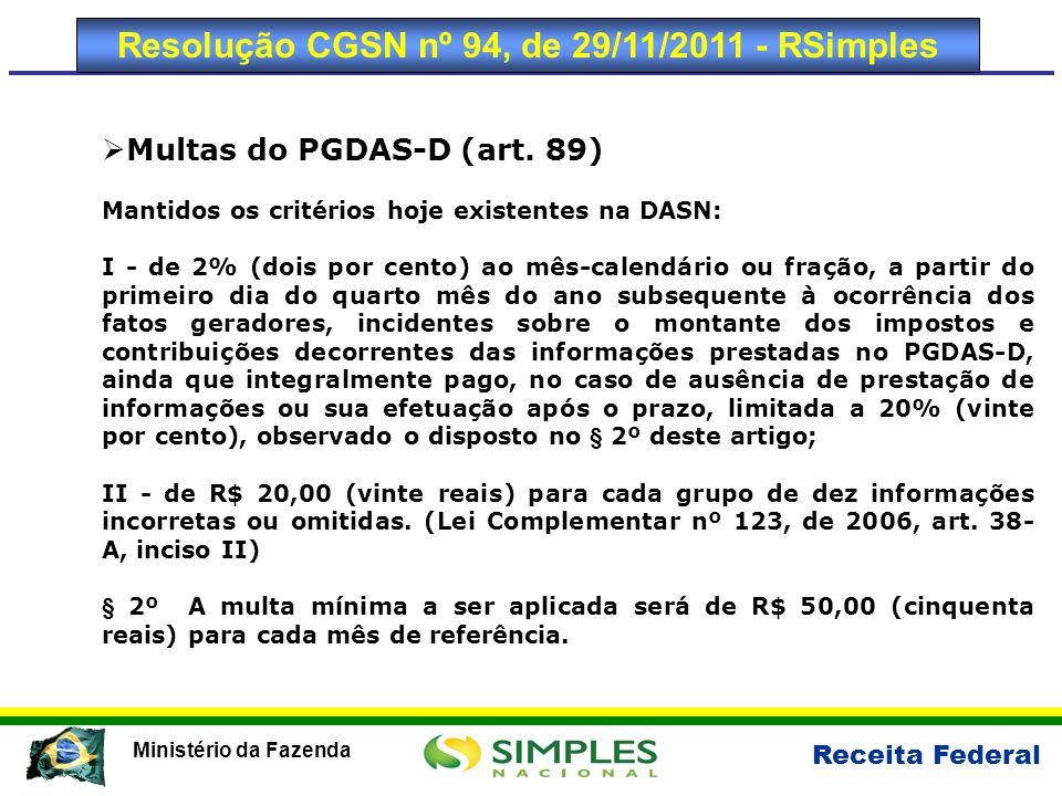 Resolução CGSN nº 94, de 29/11/2011 - RSimples