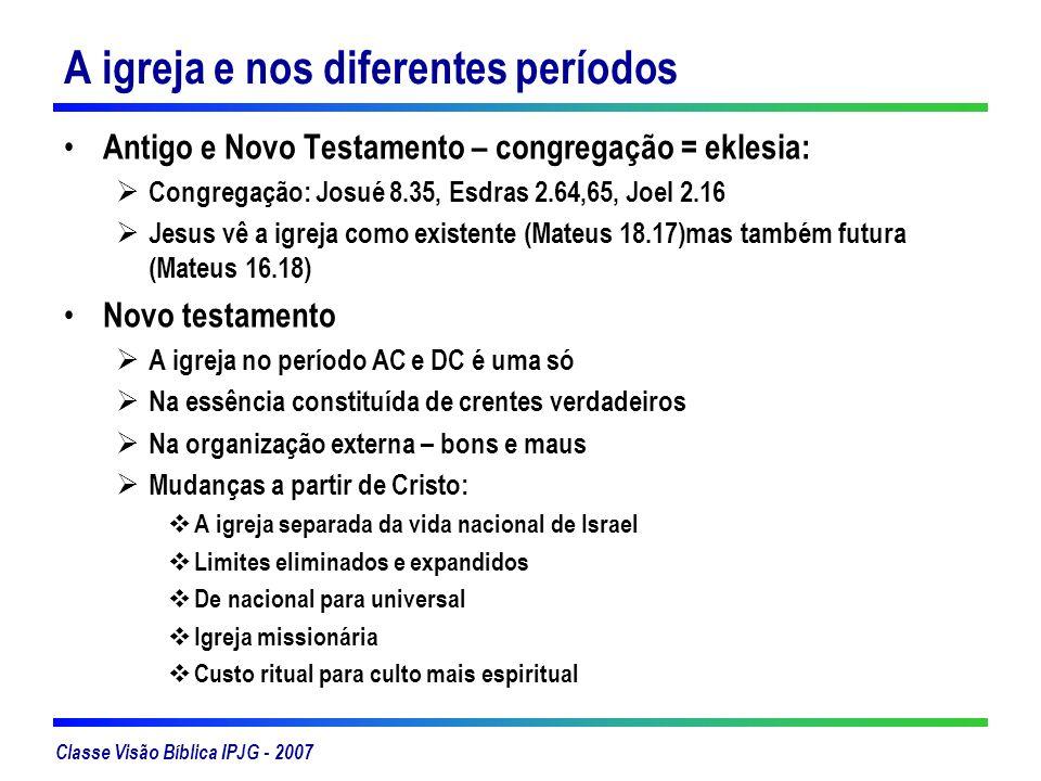 A igreja e nos diferentes períodos