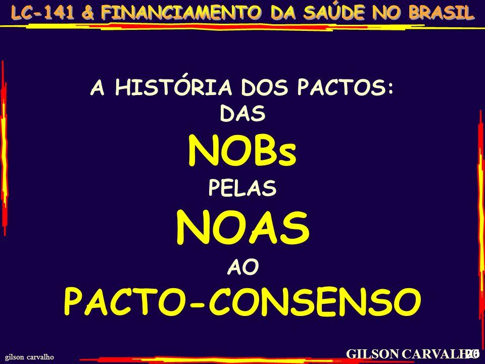 NOAS NOBs PACTO-CONSENSO A HISTÓRIA DOS PACTOS: DAS PELAS AO