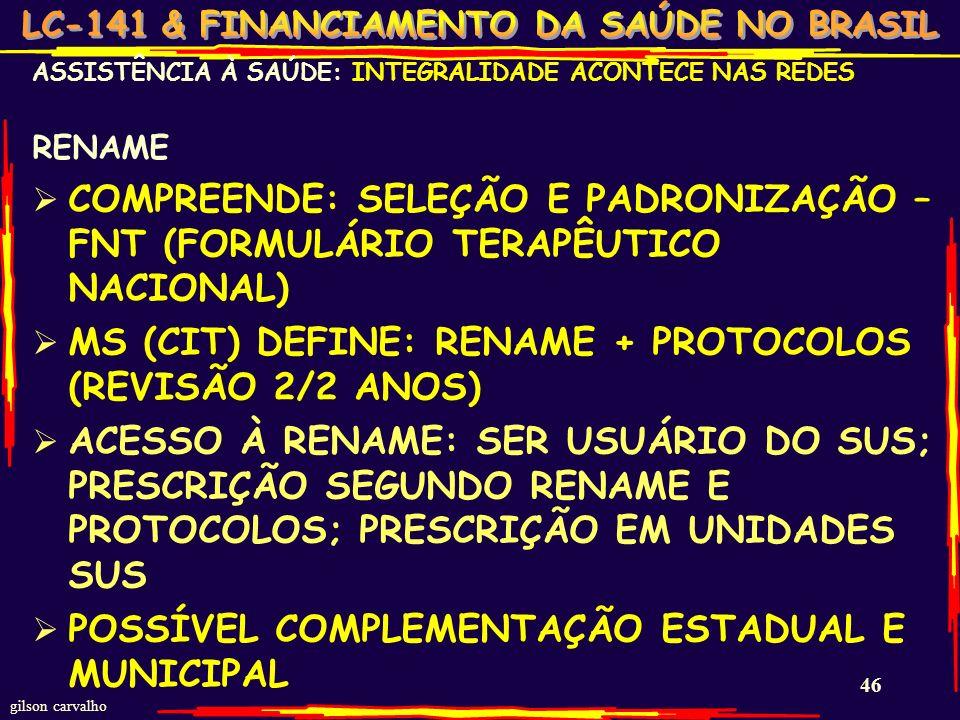 MS (CIT) DEFINE: RENAME + PROTOCOLOS (REVISÃO 2/2 ANOS)