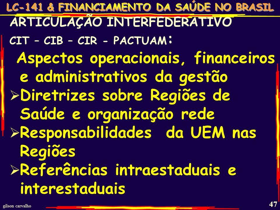 Aspectos operacionais, financeiros e administrativos da gestão