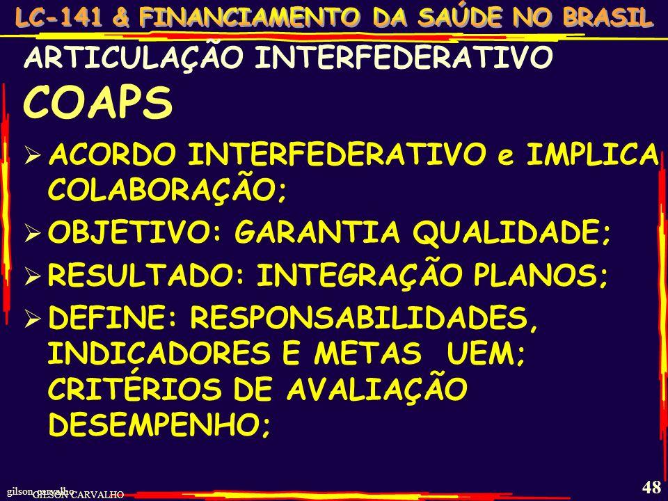 COAPS ARTICULAÇÃO INTERFEDERATIVO