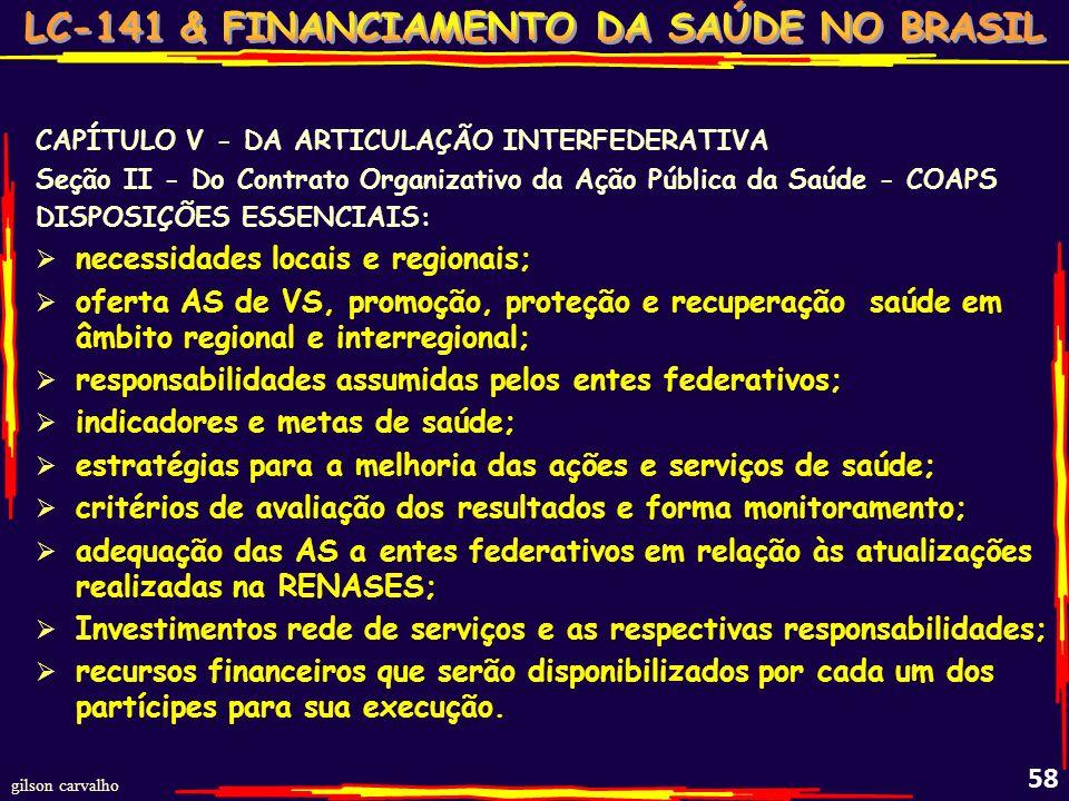 necessidades locais e regionais;