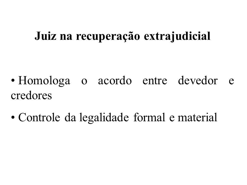 Juiz na recuperação extrajudicial