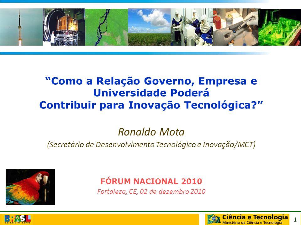 Ronaldo Mota Como a Relação Governo, Empresa e Universidade Poderá