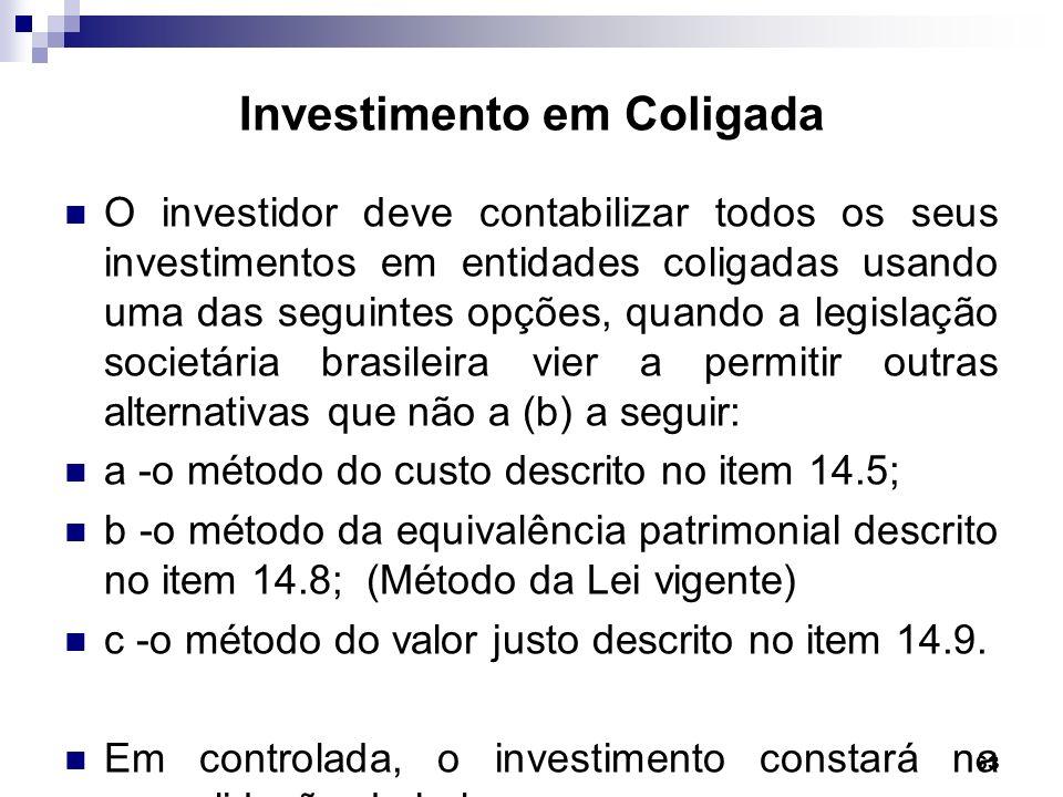 Investimento em Coligada