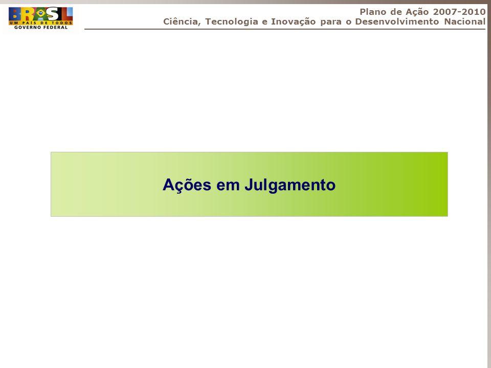 Ações em Julgamento Plano de Ação 2007-2010