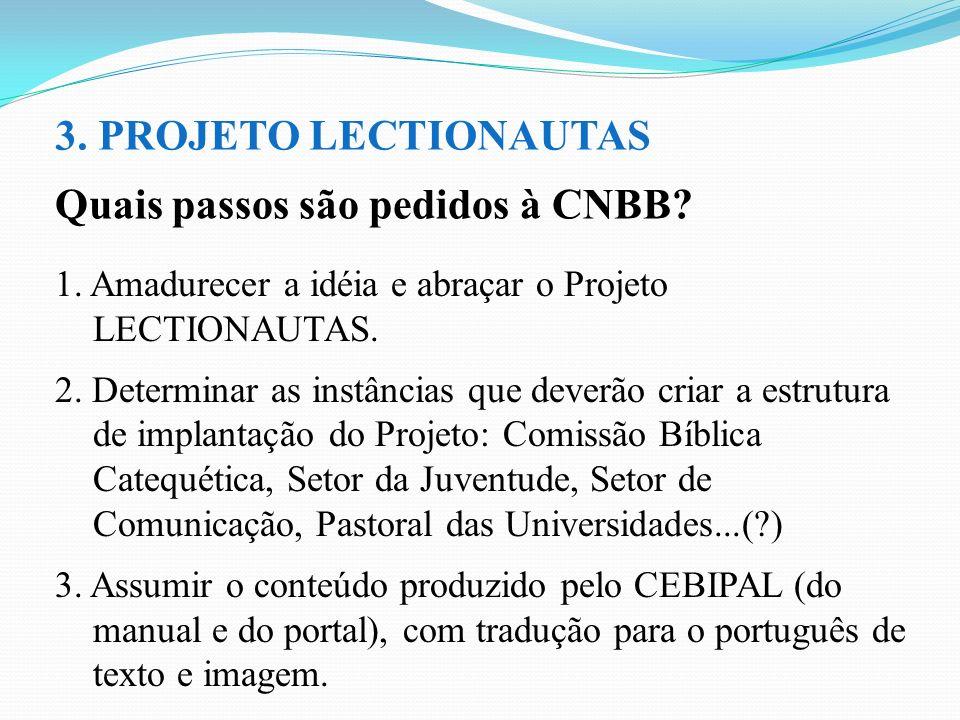 Quais passos são pedidos à CNBB