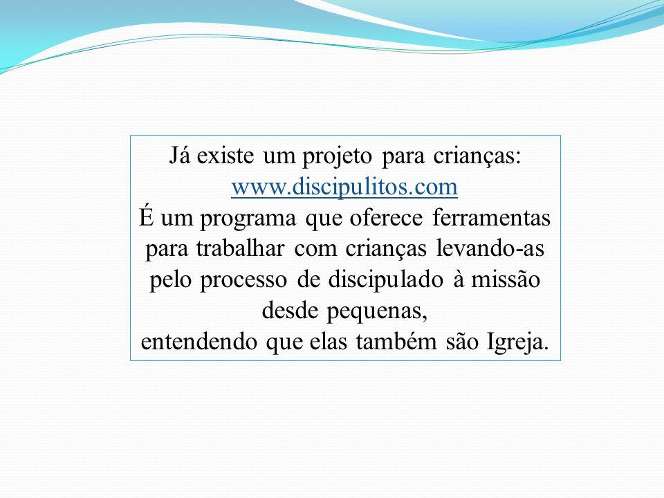 Já existe um projeto para crianças: www.discipulitos.com