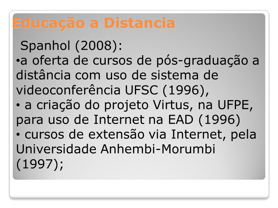 Educação a Distancia Spanhol (2008):