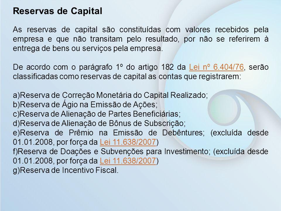 Reservas de Capital