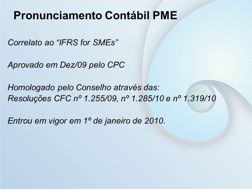 Pronunciamento Contábil PME