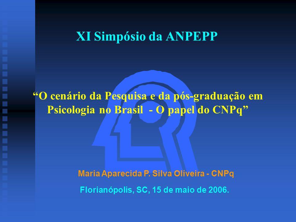 XI Simpósio da ANPEPP O cenário da Pesquisa e da pós-graduação em Psicologia no Brasil - O papel do CNPq