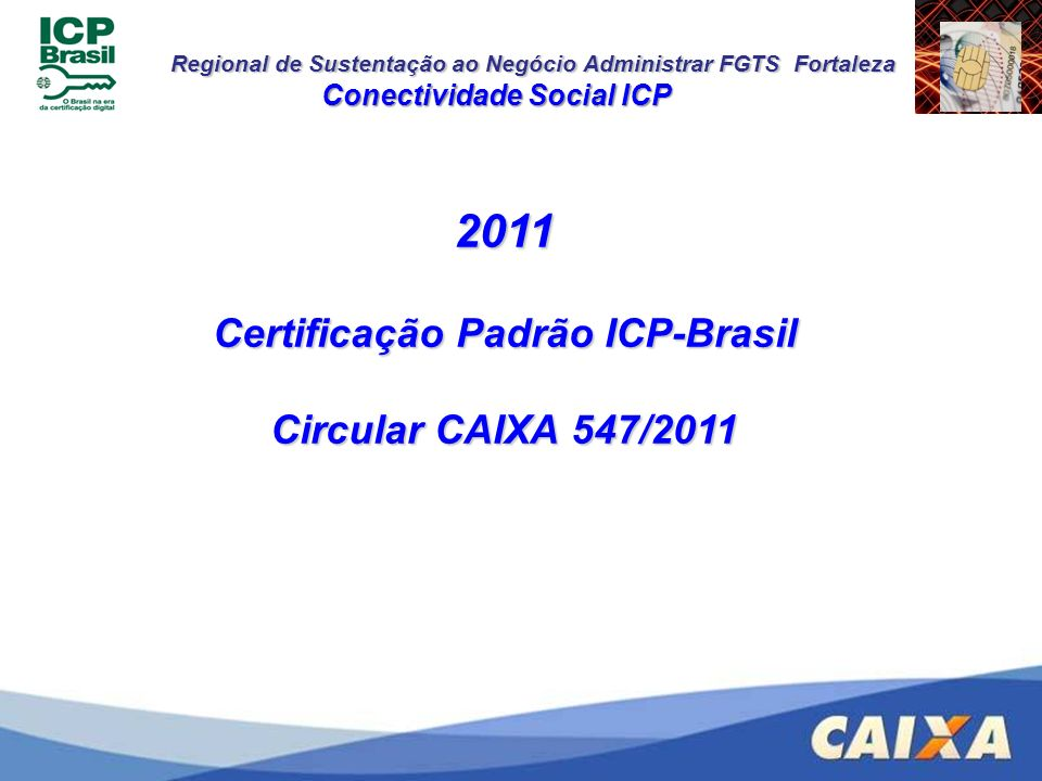 Conectividade Social ICP Certificação Padrão ICP-Brasil