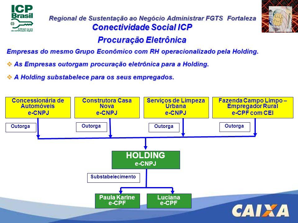 Conectividade Social ICP Procuração Eletrônica HOLDING