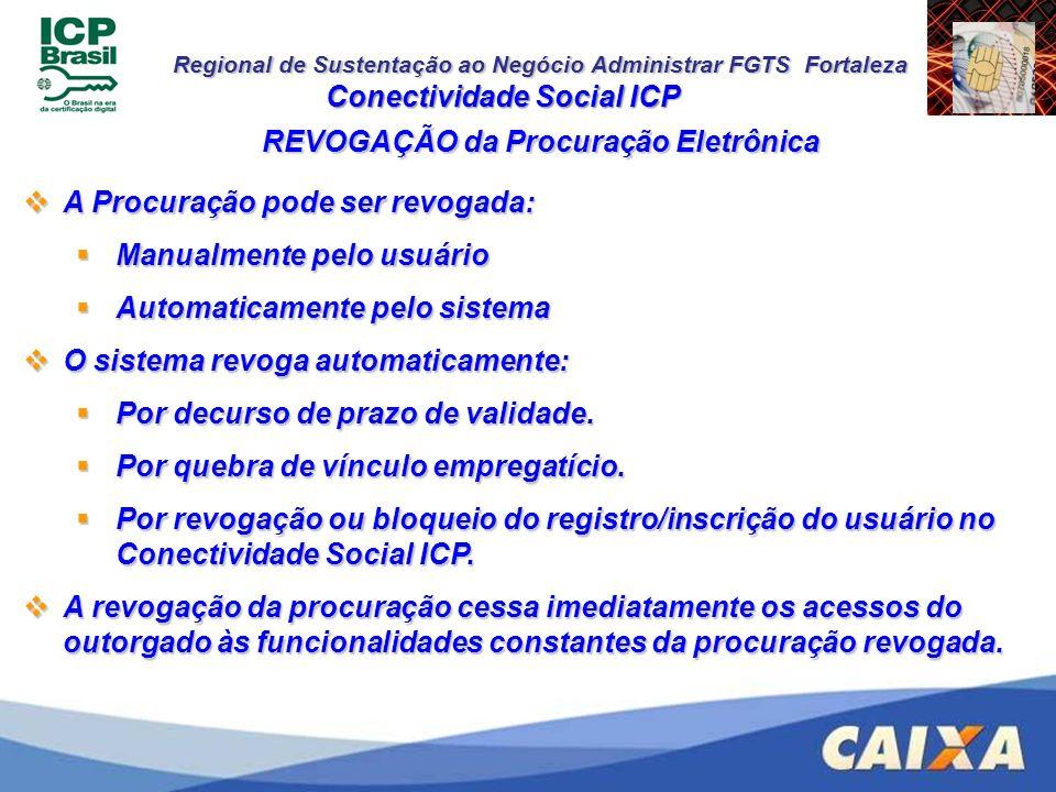 Conectividade Social ICP REVOGAÇÃO da Procuração Eletrônica