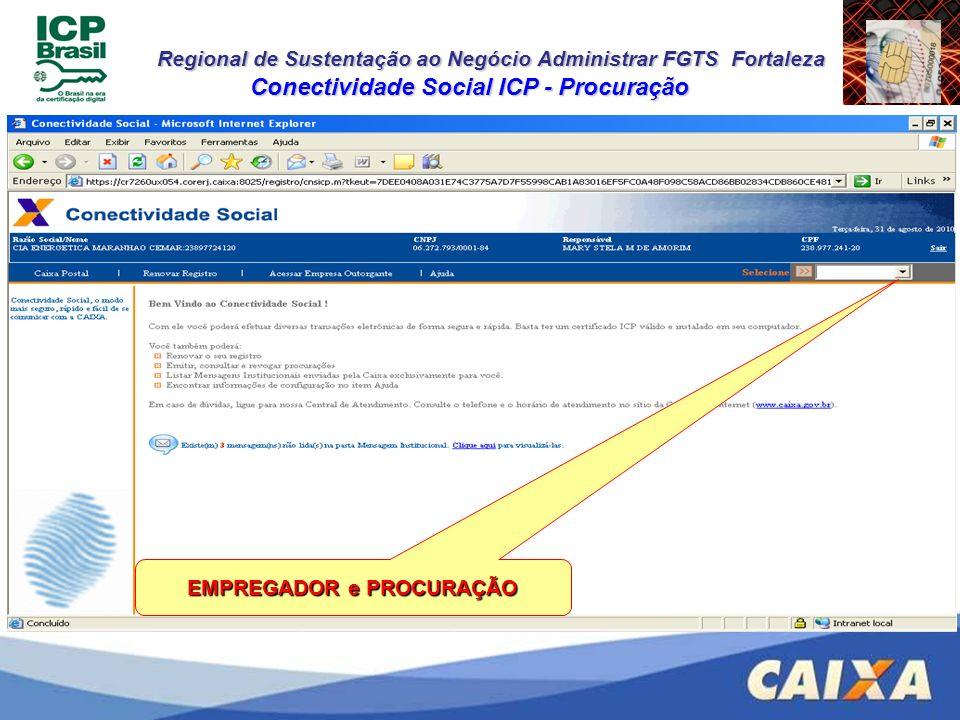 Conectividade Social ICP - Procuração EMPREGADOR e PROCURAÇÃO
