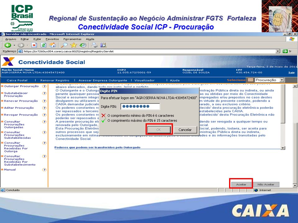 Conectividade Social ICP - Procuração