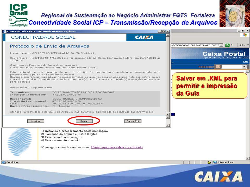 Conectividade Social ICP – Transmissão/Recepção de Arquivos
