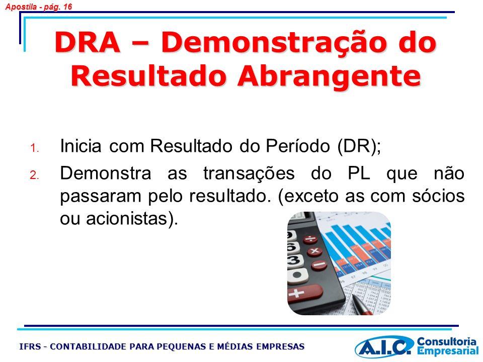 DRA – Demonstração do Resultado Abrangente