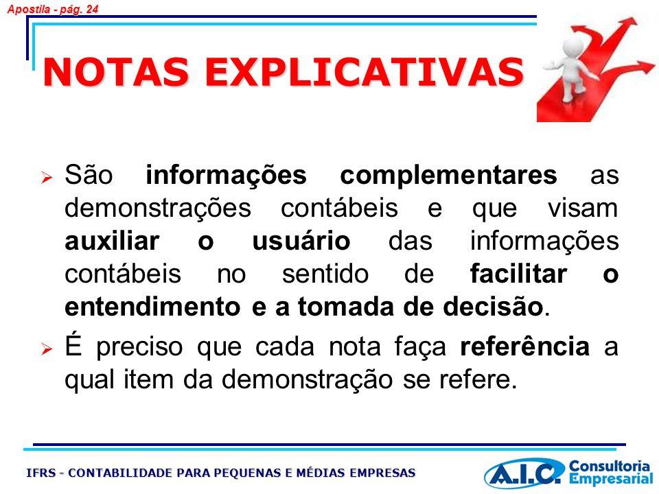 Apostila - pág. 24 NOTAS EXPLICATIVAS.