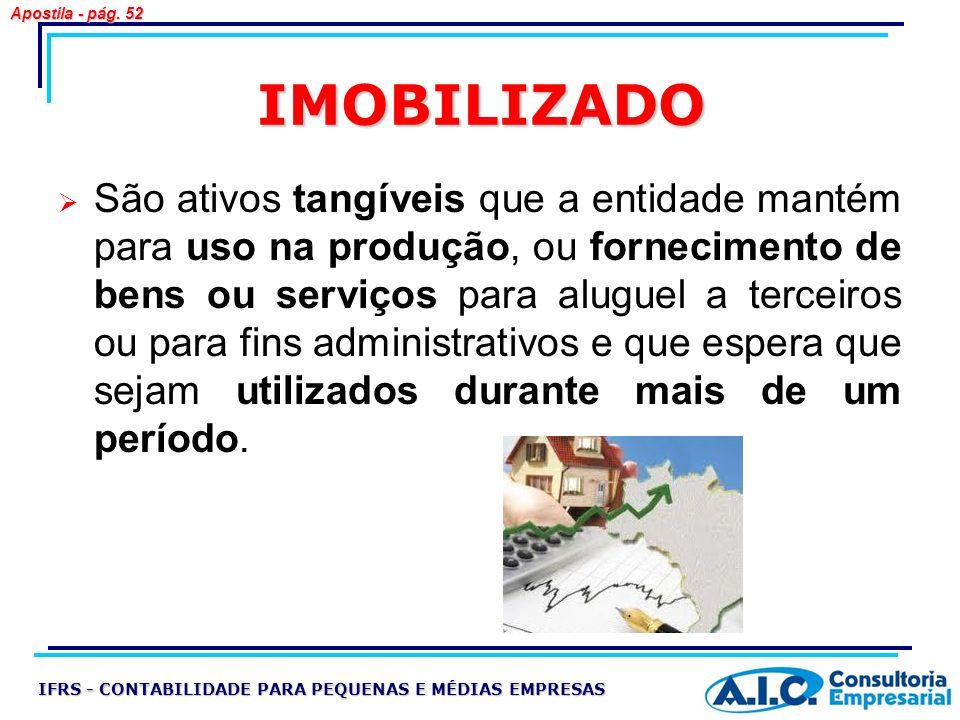 Apostila - pág. 52 IMOBILIZADO.