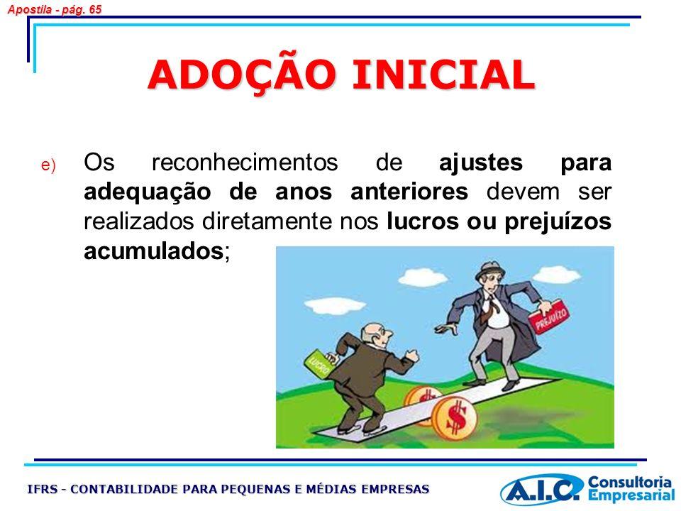 Apostila - pág. 65 ADOÇÃO INICIAL.