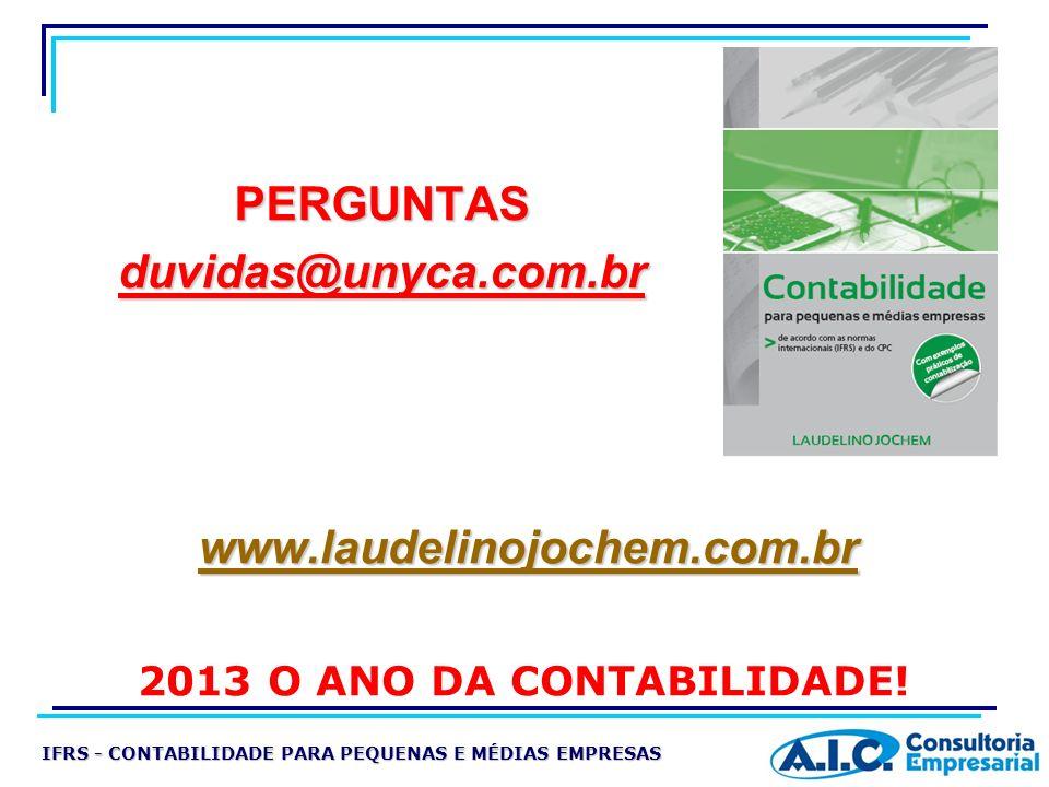 PERGUNTAS duvidas@unyca.com.br www.laudelinojochem.com.br