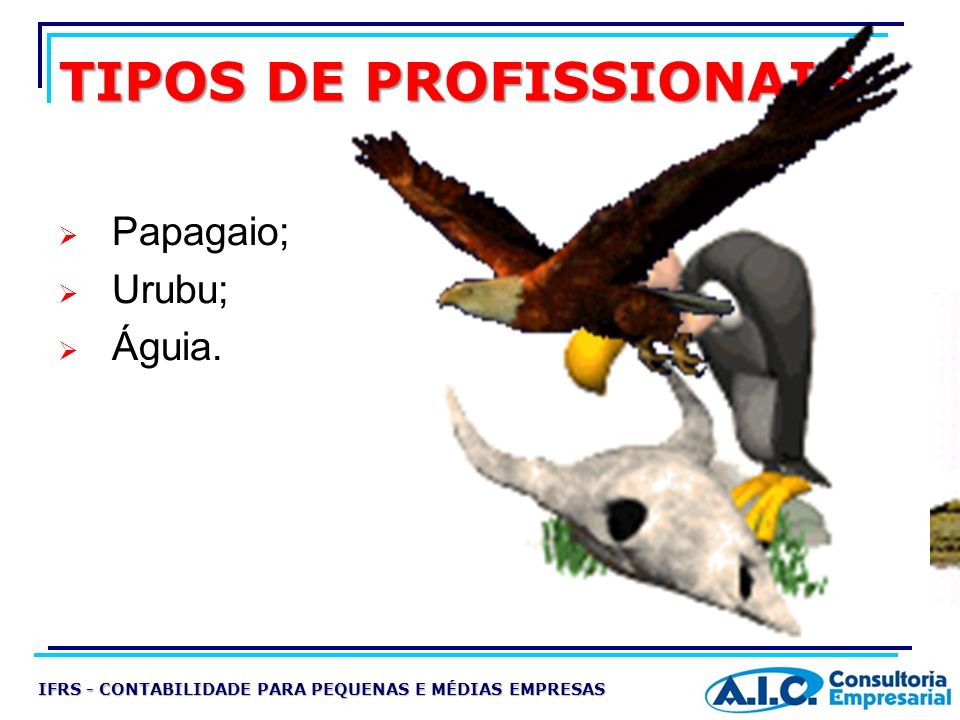 TIPOS DE PROFISSIONAIS