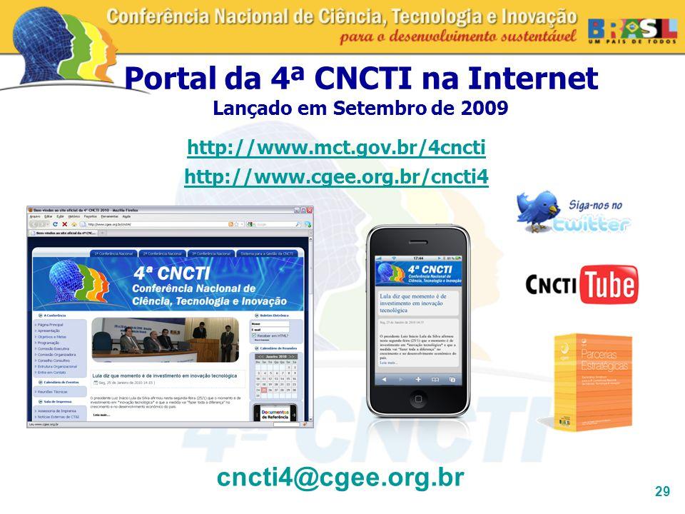 Portal da 4ª CNCTI na Internet