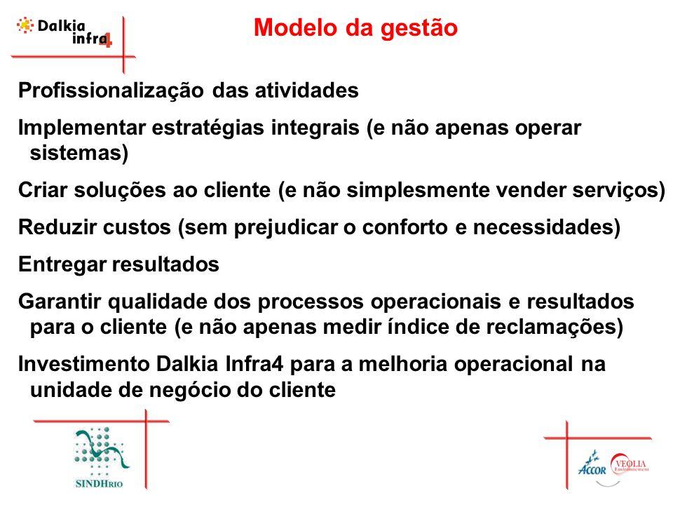 Modelo da gestão Profissionalização das atividades