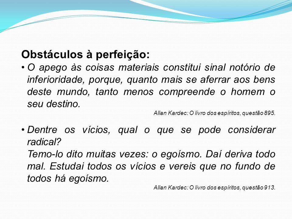 Obstáculos à perfeição: