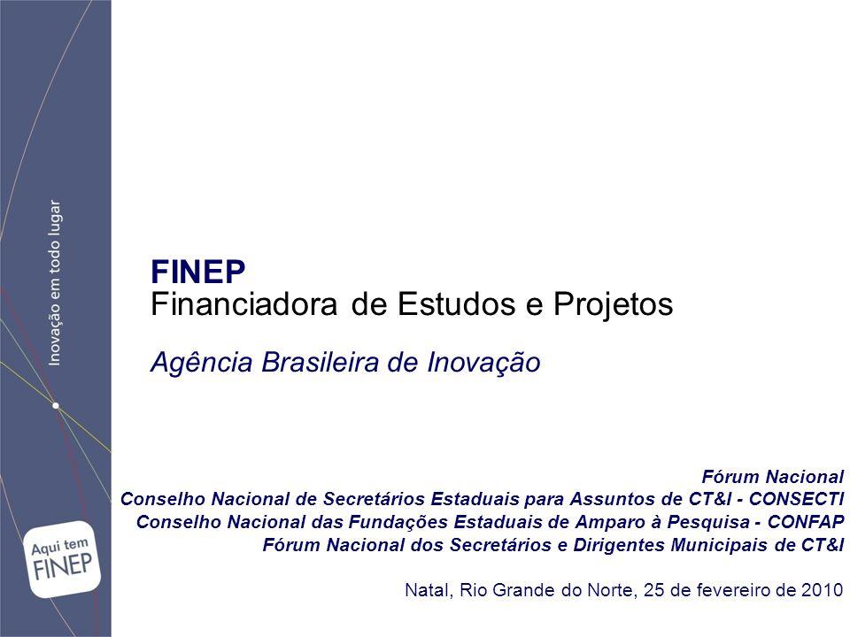 FINEP Financiadora de Estudos e Projetos