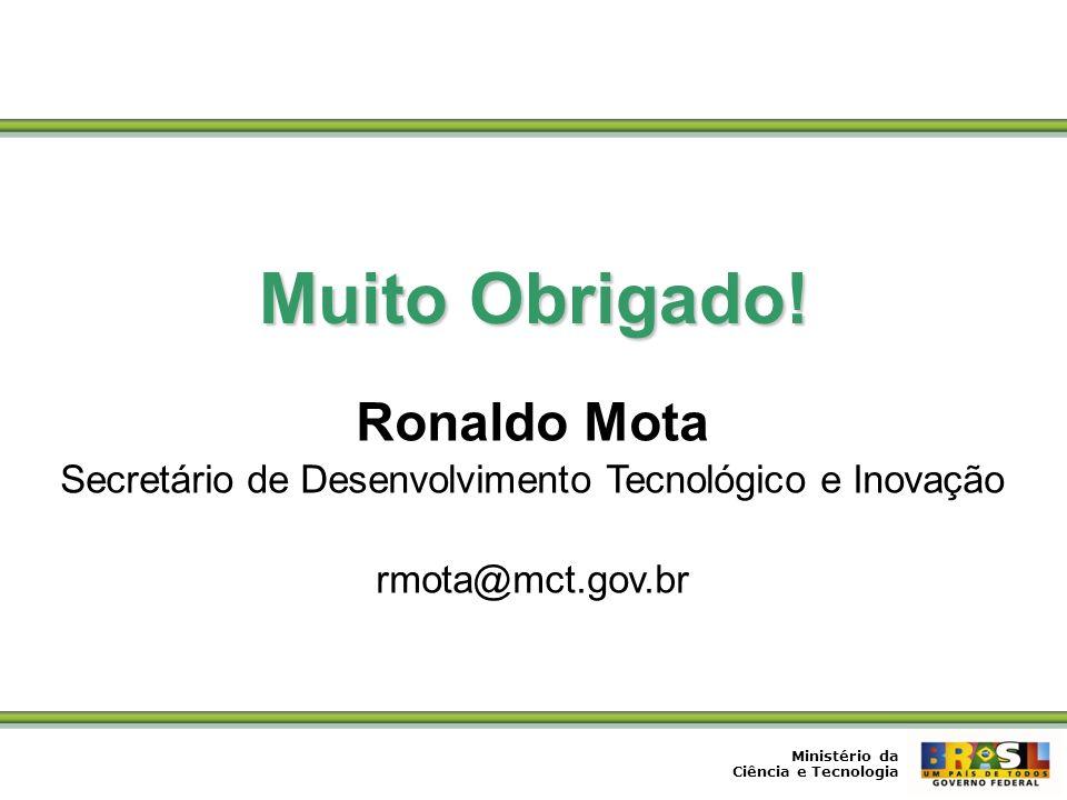 Secretário de Desenvolvimento Tecnológico e Inovação