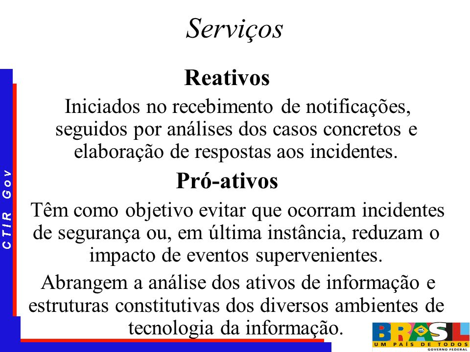 Serviços Reativos Pró-ativos