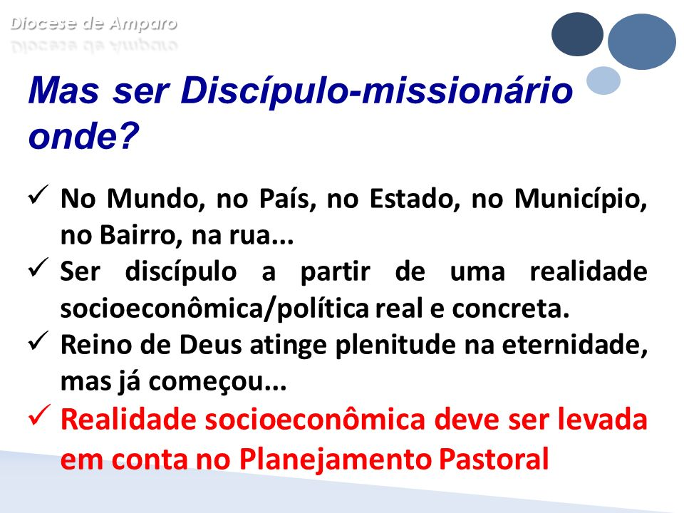 Mas ser Discípulo-missionário onde