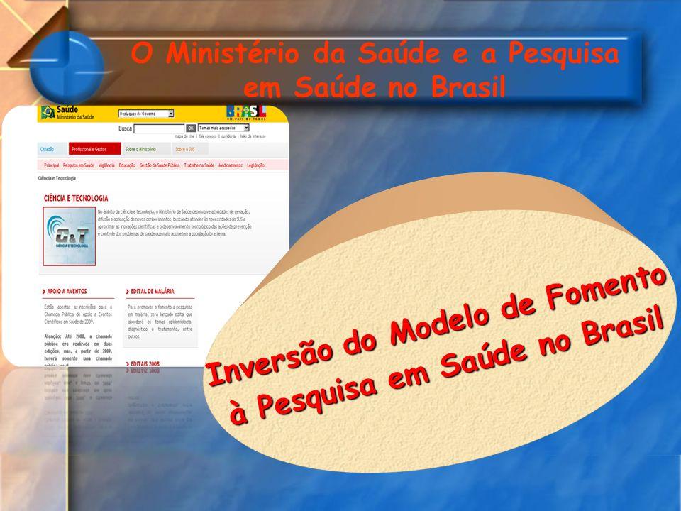 Inversão do Modelo de Fomento à Pesquisa em Saúde no Brasil