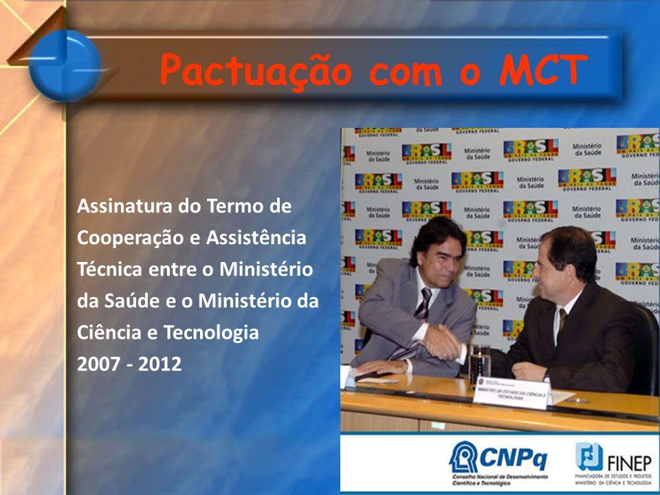 Pactuação com o MCT