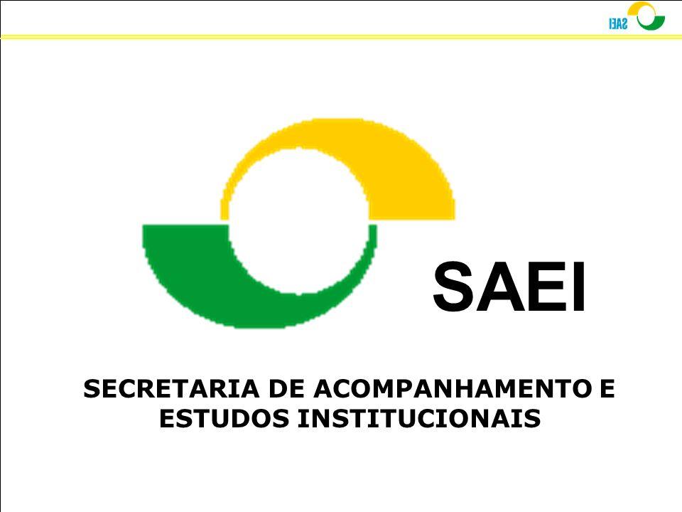 SECRETARIA DE ACOMPANHAMENTO E ESTUDOS INSTITUCIONAIS