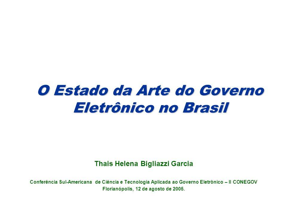 O Estado da Arte do Governo Eletrônico no Brasil