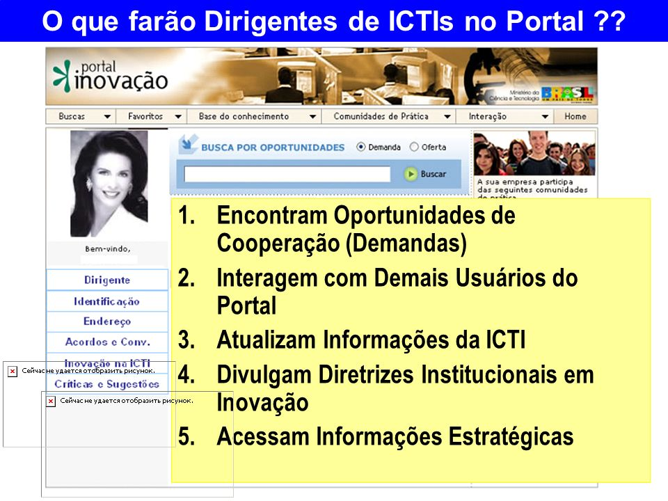 O que farão Dirigentes de ICTIs no Portal