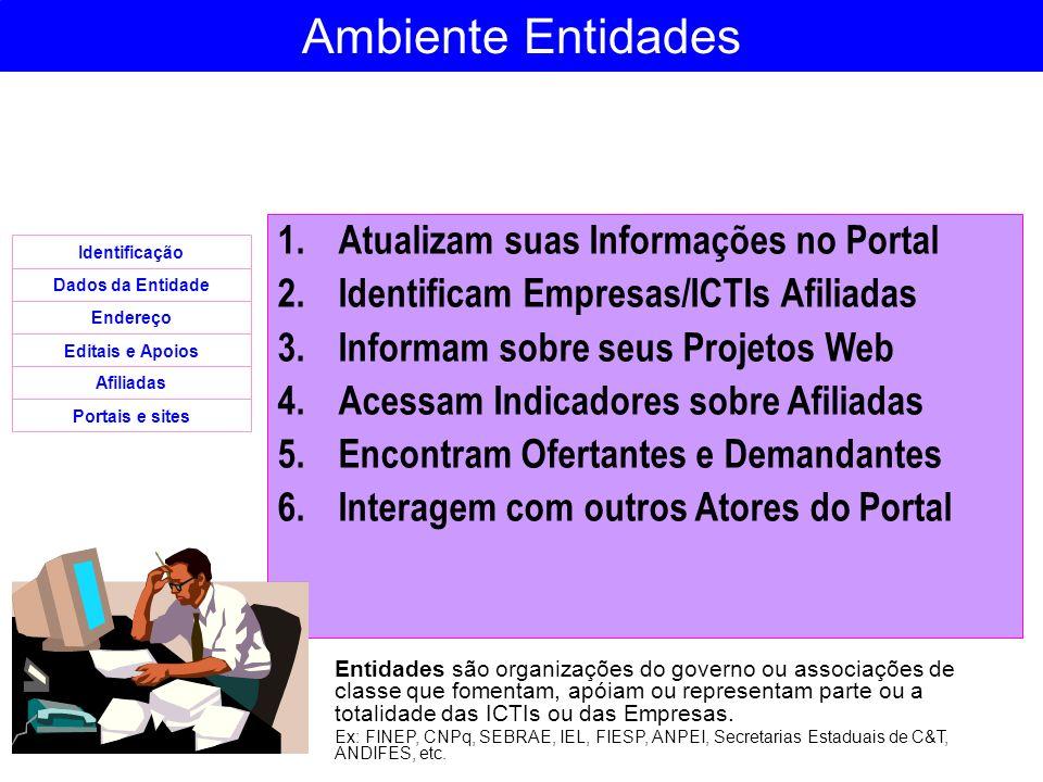 Ambiente Entidades Atualizam suas Informações no Portal