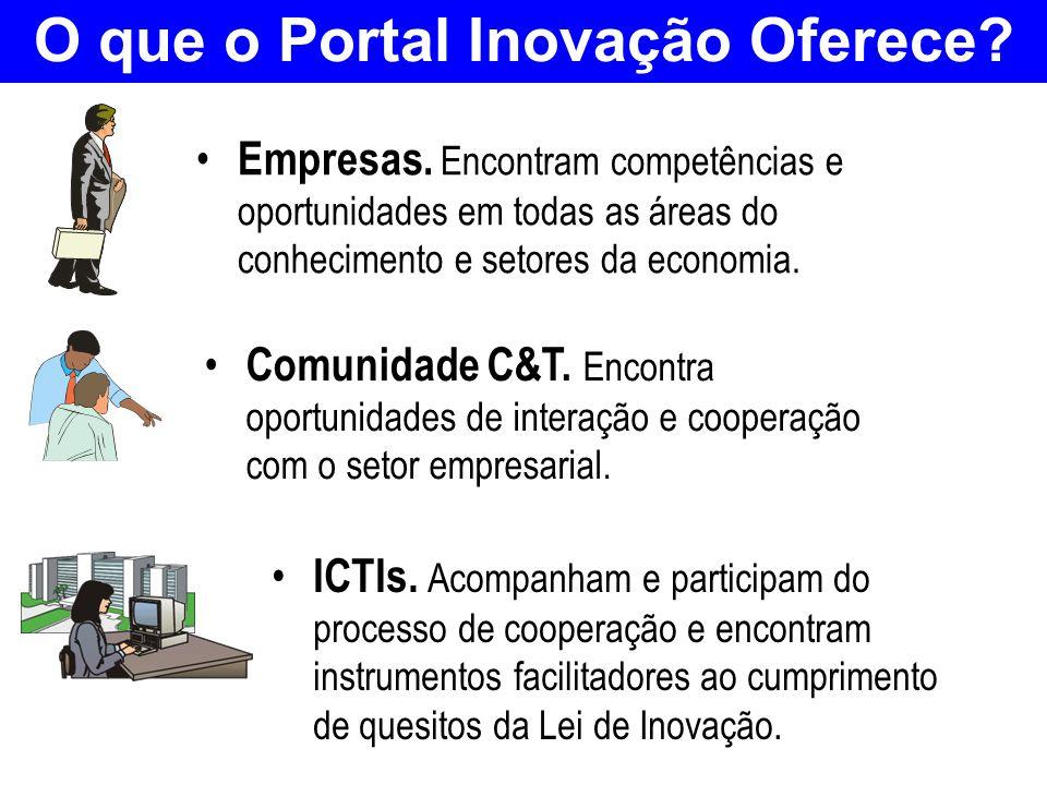 O que o Portal Inovação Oferece