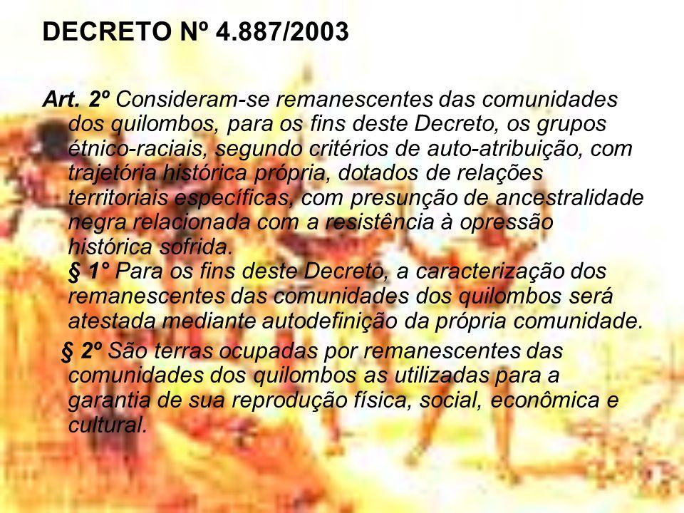 DECRETO Nº 4.887/2003