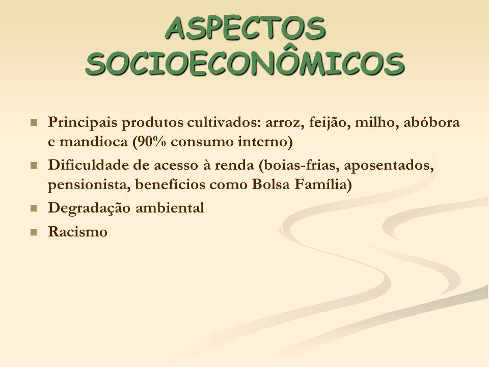 ASPECTOS SOCIOECONÔMICOS