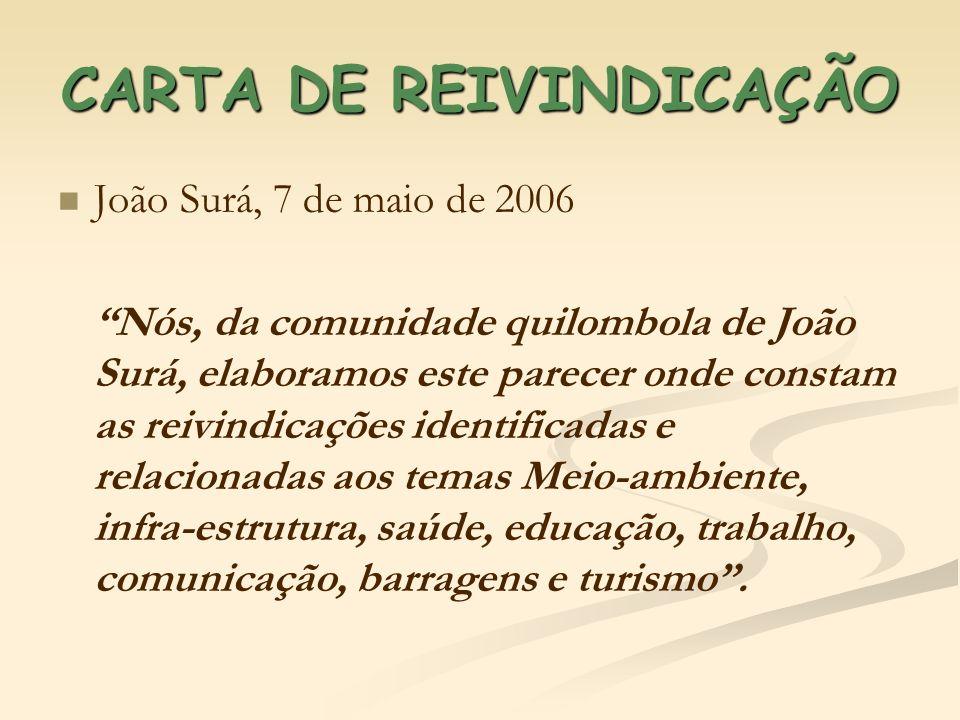CARTA DE REIVINDICAÇÃO