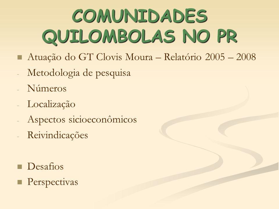 COMUNIDADES QUILOMBOLAS NO PR
